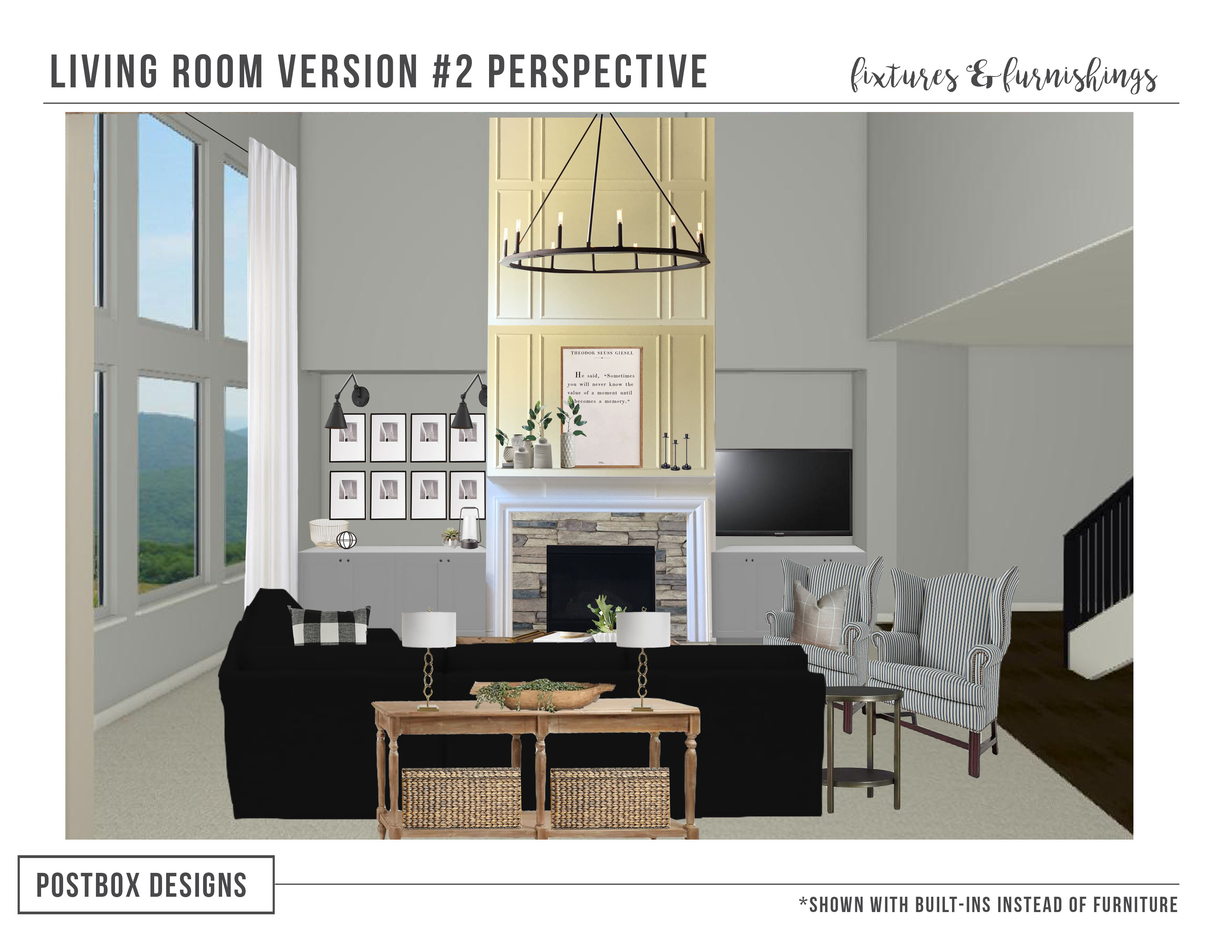 Modern Farmhouse Family Room Makeover How To Design With An Open Floor Plan Postbox Designs