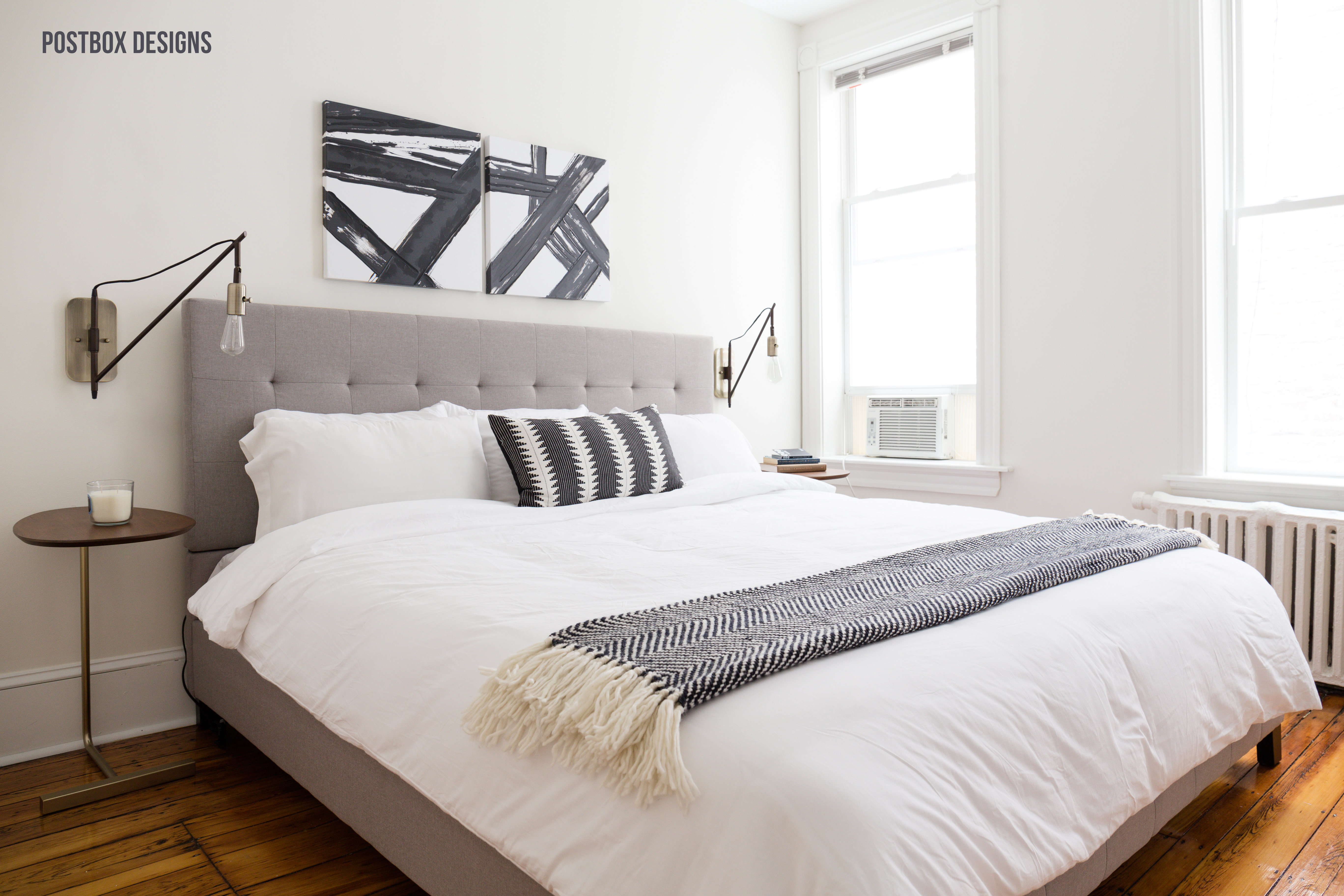 Neutral Modern Boho Bedroom Makeover Reveal: See the Before and