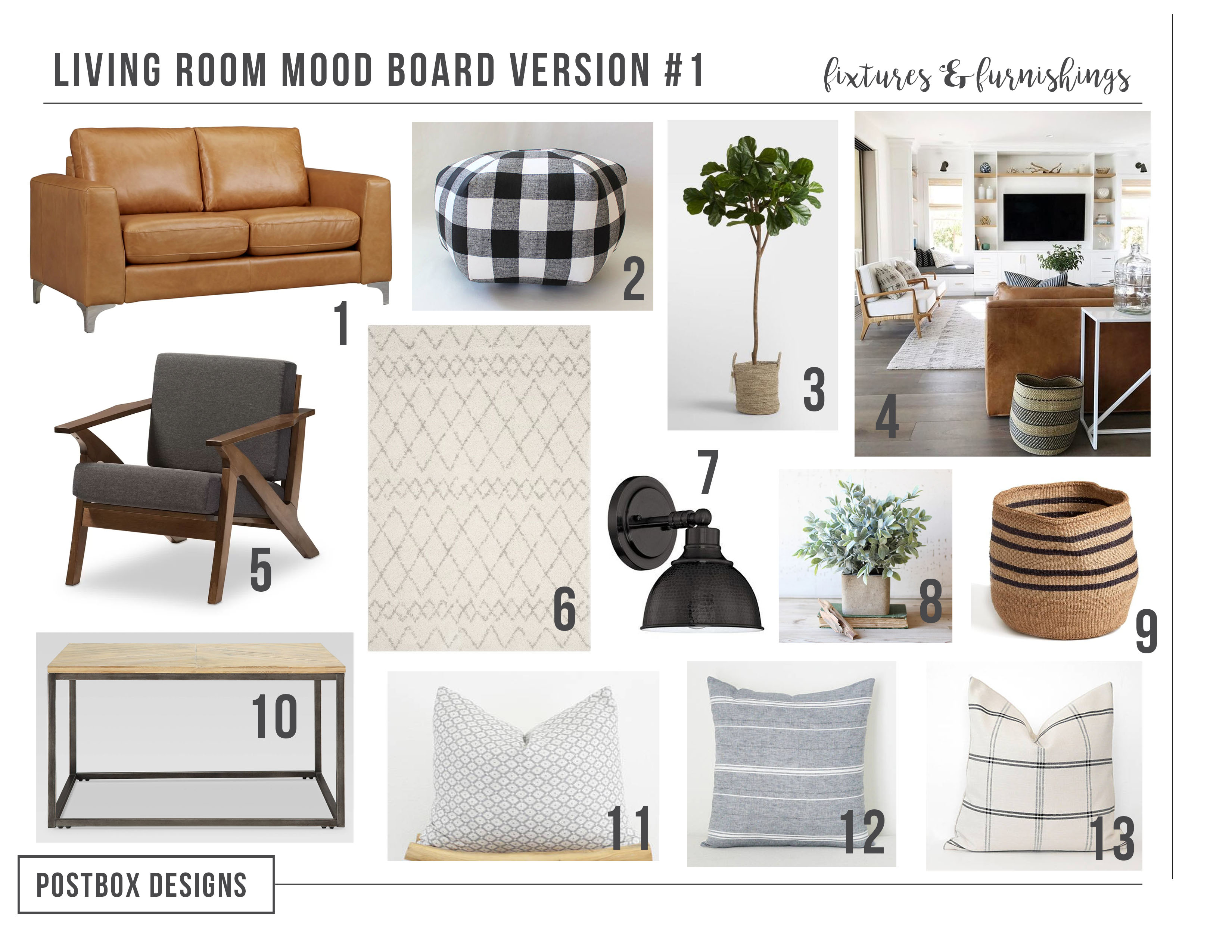 Budget Family Friendly Modern Farmhouse Living Room: Part I