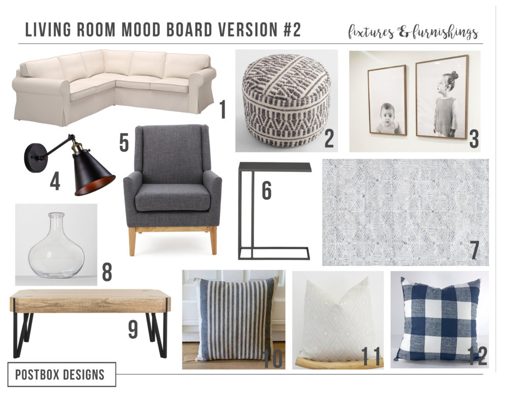 Budget Family Friendly Modern Farmhouse Living Room: Part II