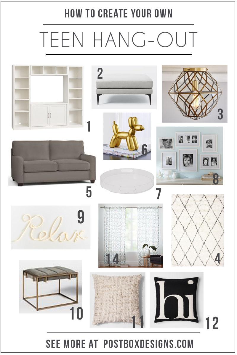 Postbox designs interior e design 5 ways to create your own teen hang
