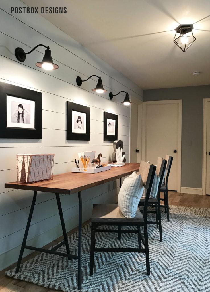 Online Room Remodel Design: Postbox Designs Kid Homework Station Makeover Via Online