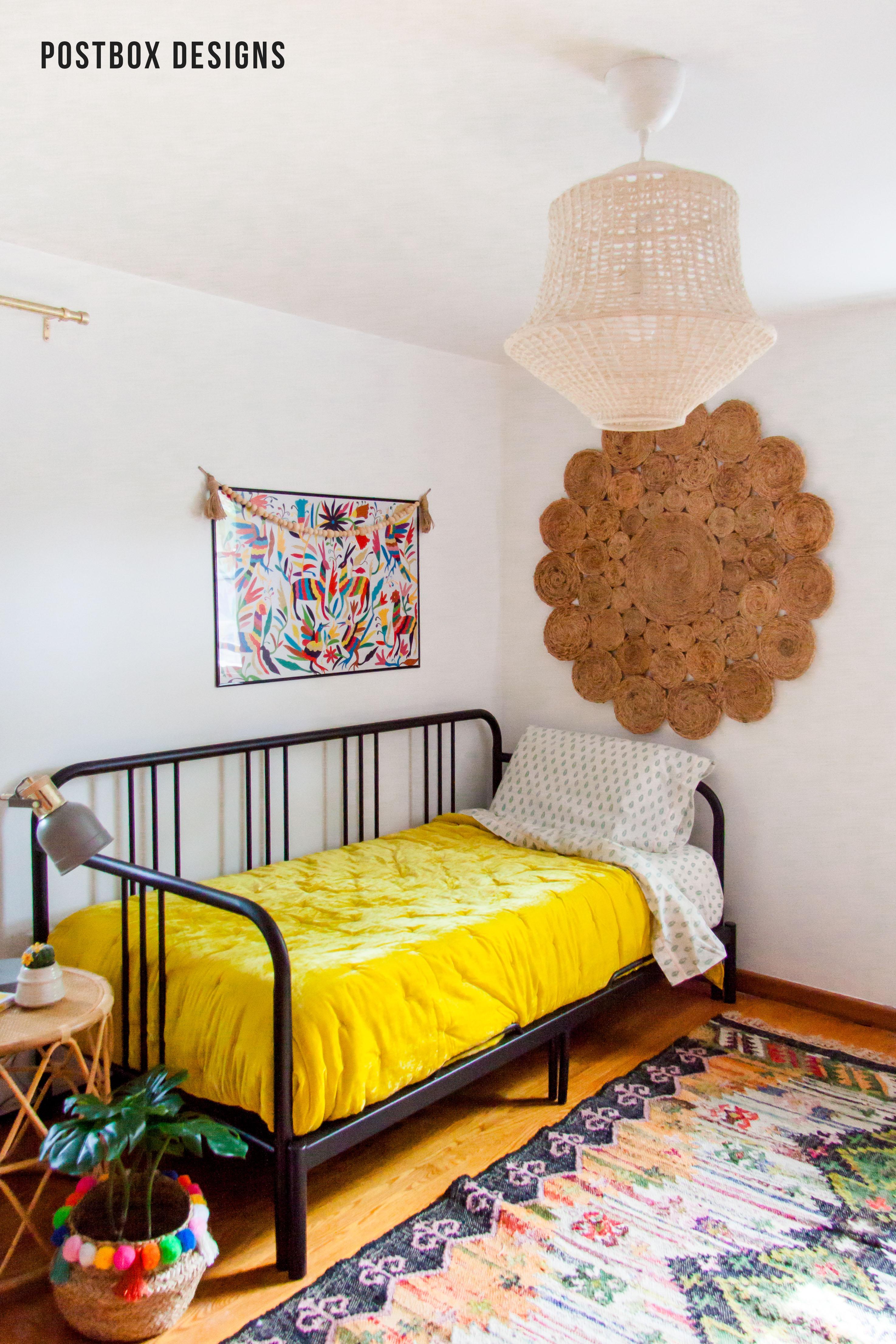 Interior Design Of Guest Room: Boho-home-office-postbox-designs-online-interior=design