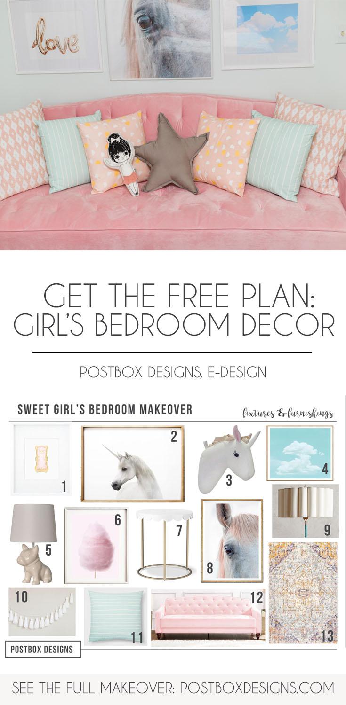 Girl Bedroom Makeover Girl Room Decor Via Online Interior Design
