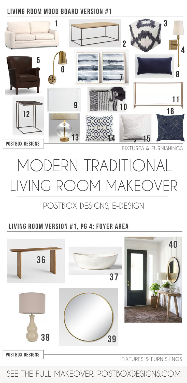 Modern Meets Traditional Living Room Decor Online Interior Design