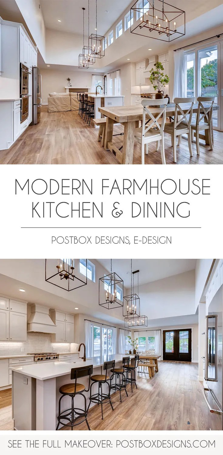 Big Reveal Peek Inside This Modern Farmhouse Kitchen Dining Room Postbox Designs