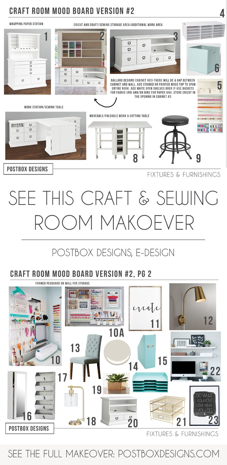 Copy This Craft & Sewing Room Makeover! - Postbox Designs