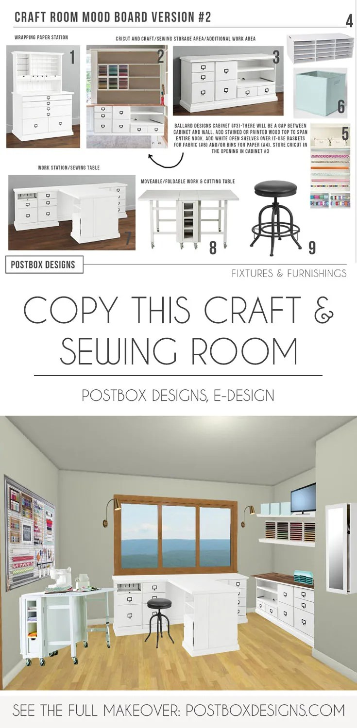 Copy This Craft Sewing Room Makeover Postbox Designs