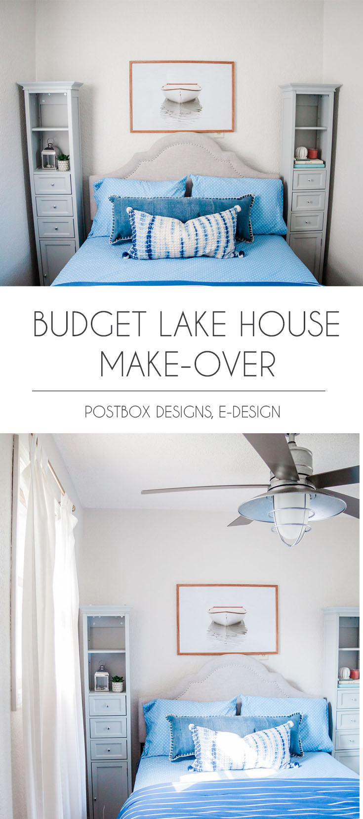 Peek Into My Own Lake House Bedroom Makeover Postbox Designs,Kitchen Table Over Dining Table Lighting Ideas