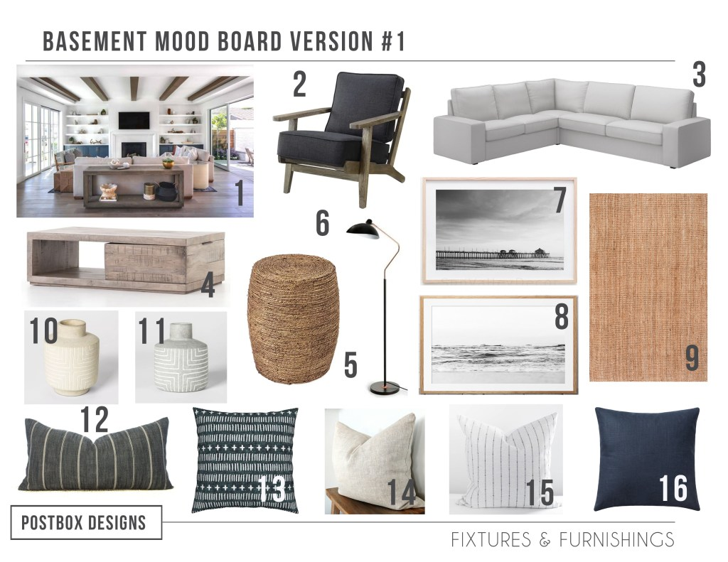 California Casual Living Room Design Basement Makeover Postbox Designs