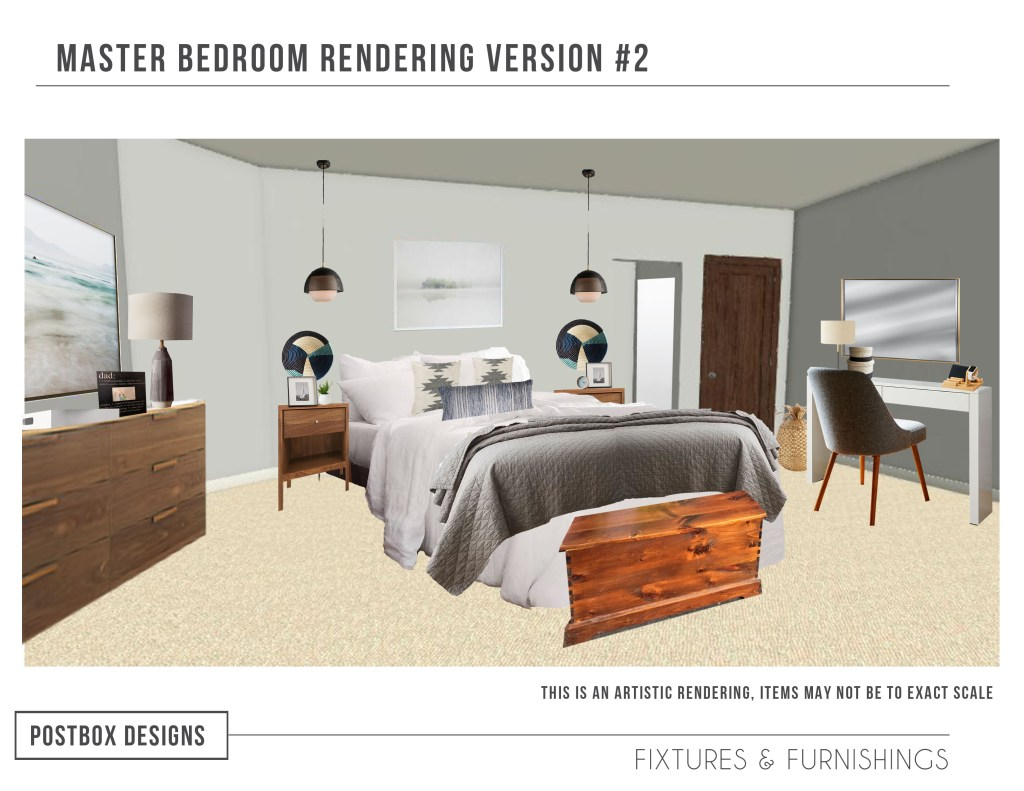 A Global Mid Century Modern Bedroom Makeover Postbox Designs