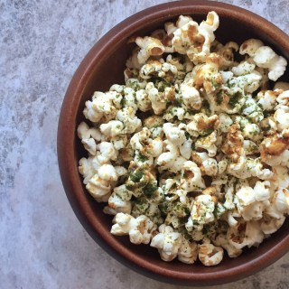 Miso caramel popcorn