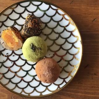 Salted duck yolk and lotus seed truffle