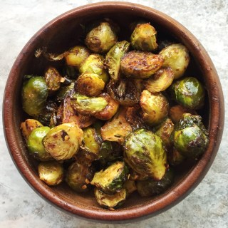 Duck fat roasted brussel sprouts with oyster sauce