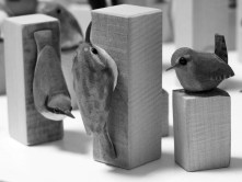 1. Hand Carved Birds by Nick Hunter - Sheffield