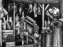4. Market Traders by Phlegm. Castle House, Sheffield - September 2014