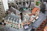 A complex of buildings around the cathedral of Tournai. Belgium