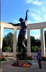 The memorial at Omaha Beach