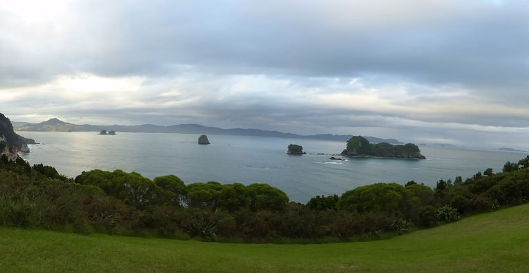 Looking over the marine reserve  and Hahei beach.