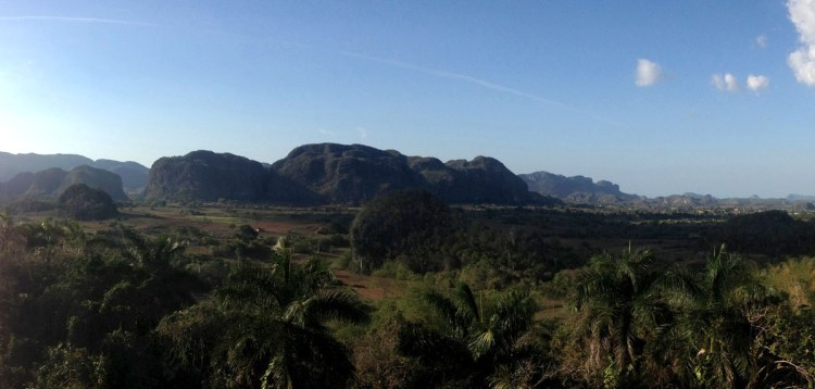 The 'Dos Hermanas' in Viñales valley.