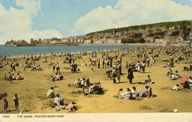 The Sands Weston Super Mare Podcast from the Past postcard episode 6, Tom Jackson, postcard from the past, Tom Jackson
