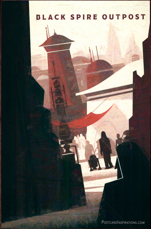 A thriving port for smugglers, rogue traders, and adventurers traveling between the fronttier and uncharted space on the planet Batuu. Significantly, it has also become a safe haven for those looking to avoid the attention of the First Order.