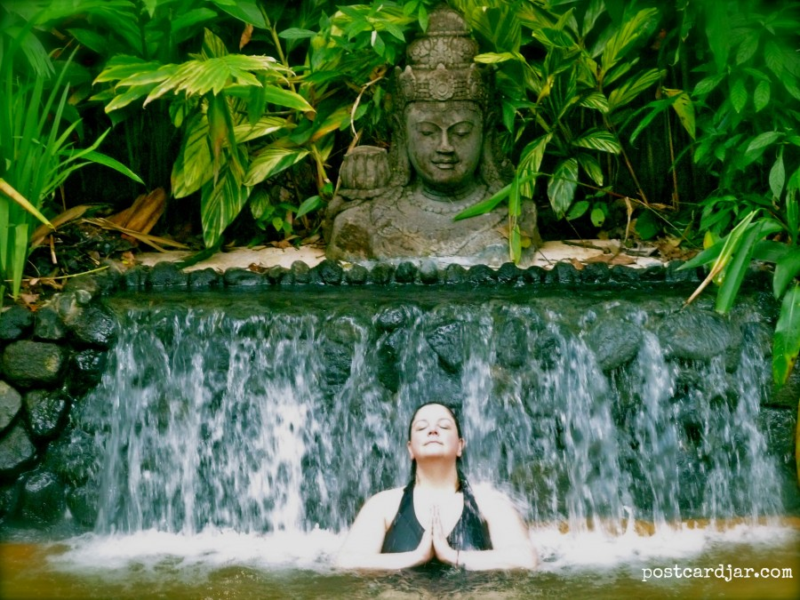 Calm and relaxed at Tabacon Hot Springs in Costa Rica. (Photo by Steve Teget for postcard jar.com)