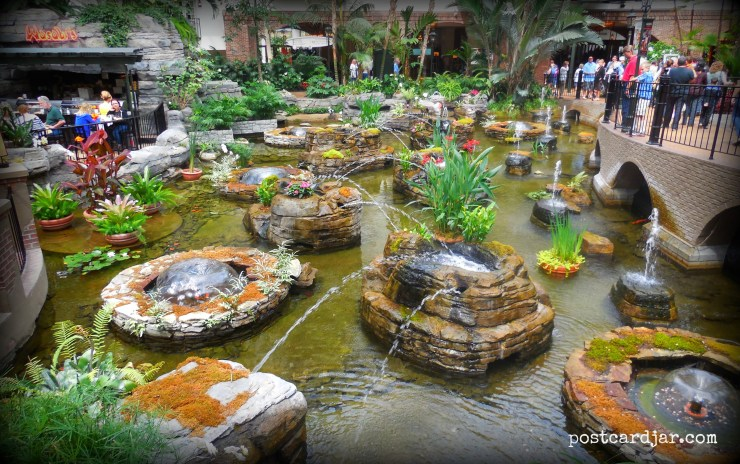 One of the amazing indoor gardens at the Gaylord Opryland Hotel in Nashville.