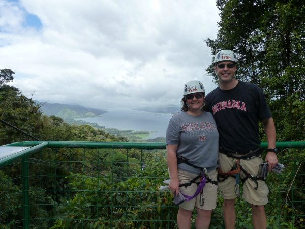 What an exciting way to start a marriage -- zip lining 400 feet above the tree tops in Costa Rica.