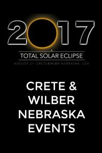 Total solar eclipse events in Crete and Wilber, Nebraska