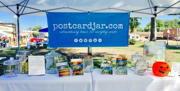 Postcard Jar postcard stand