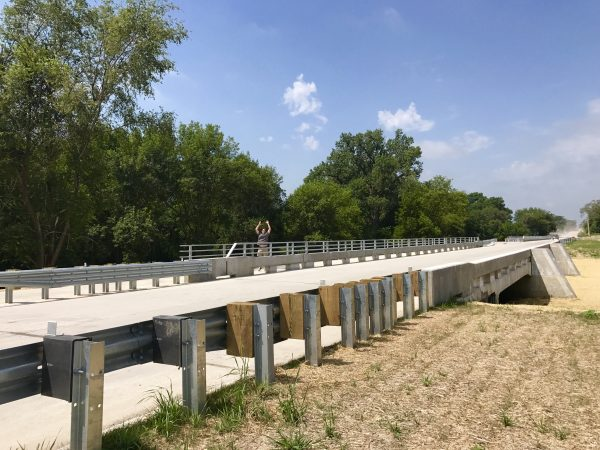 The new bridge on 13th St., Crete, Nebraska