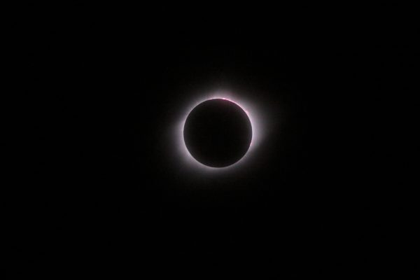 Total solar eclipse, photographed by Ronald D. Koch in Crete, Nebraska.
