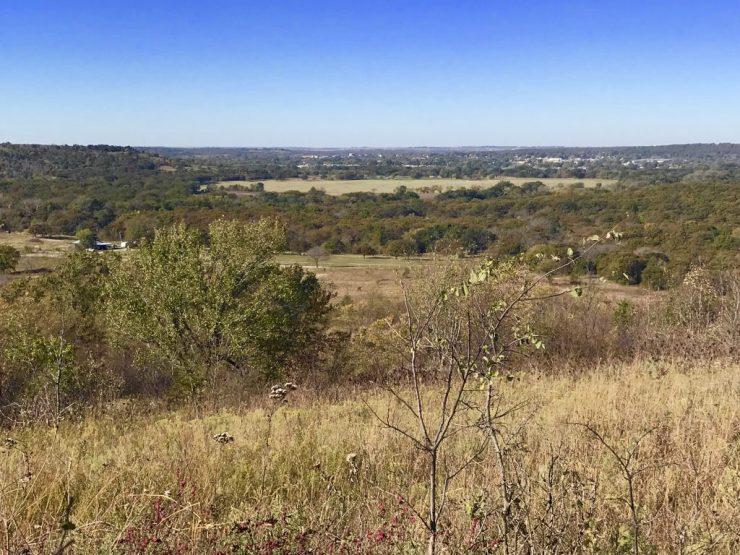 Lookout Mountain view toward Pawhuska, Oklahoma