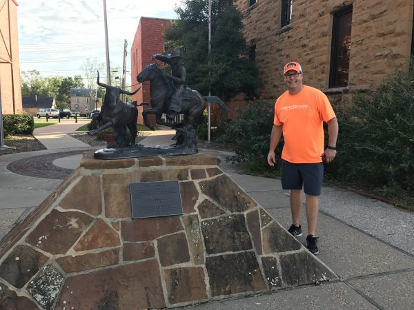John D. Free bonze, Pawhuska, Oklahoma