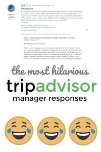 TripAdvisor's most hilarious manager responses