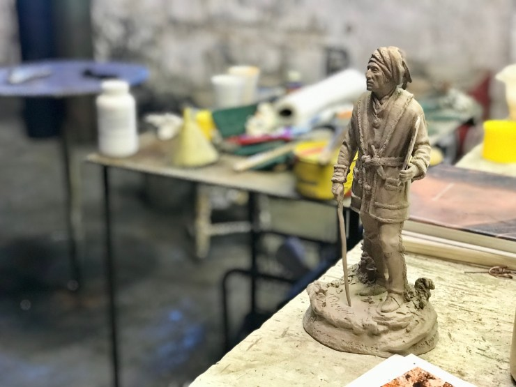 Bronze Horse Foundry figurine, Pawhuska, Oklahoma
