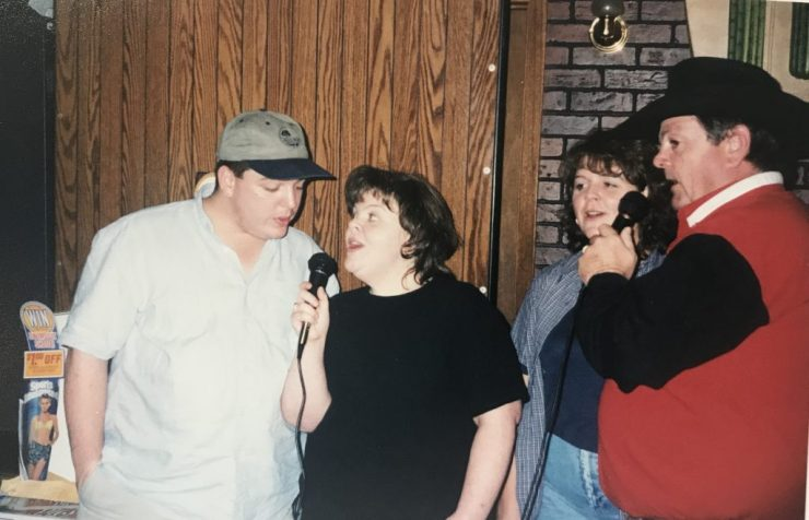My dad was always willing to try something new, including karaoke.