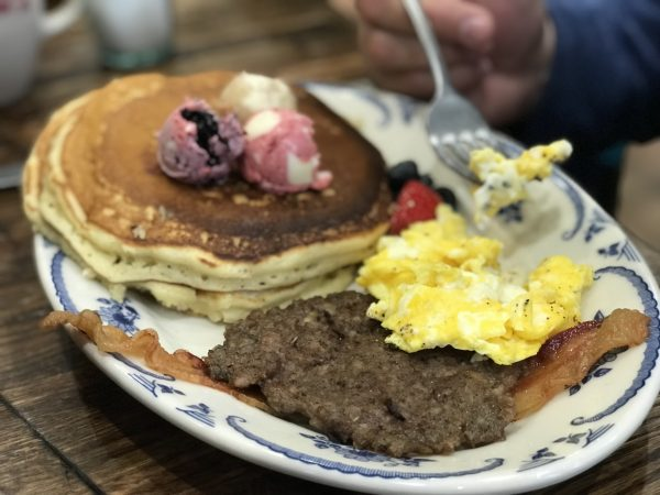 Pancake breakfast, Pioneer Woman Mercantile, Pawhuska, Oklahoma