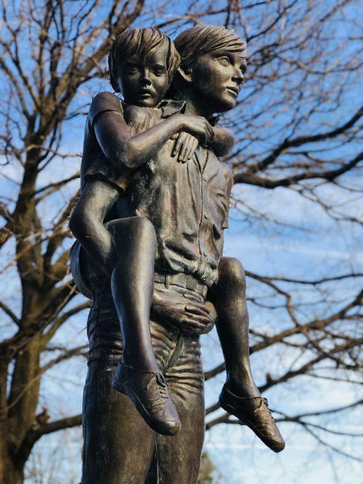 Two Brothers statue, Boys' Town, Omaha, Nebraska