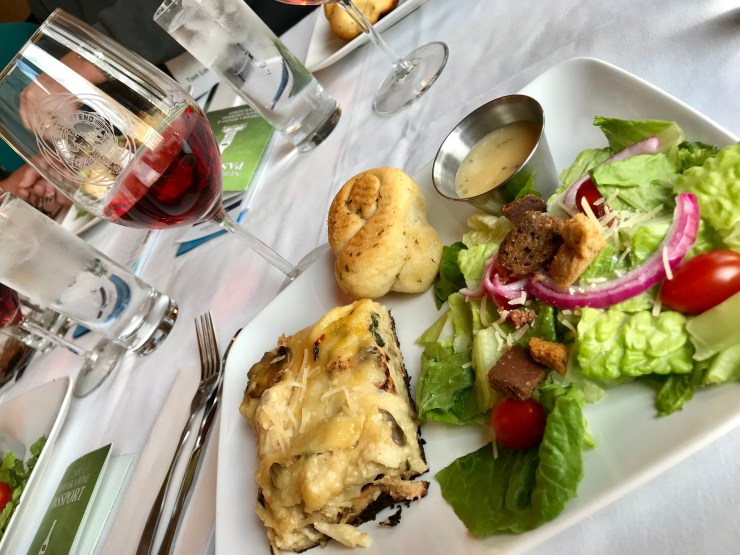 The chicken lasagna was paired with Mac's Lantern dry Rose at Mac's Creek Winery in Lexington, Nebraska.