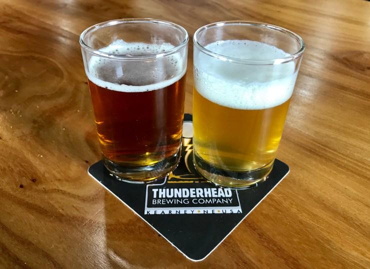 Beer at Thunderhead Brewing in Kearney, Nebraska.
