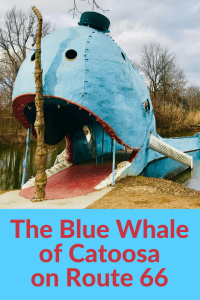 The Blue Whale of Catoosa on Route 66 near Tulsa
