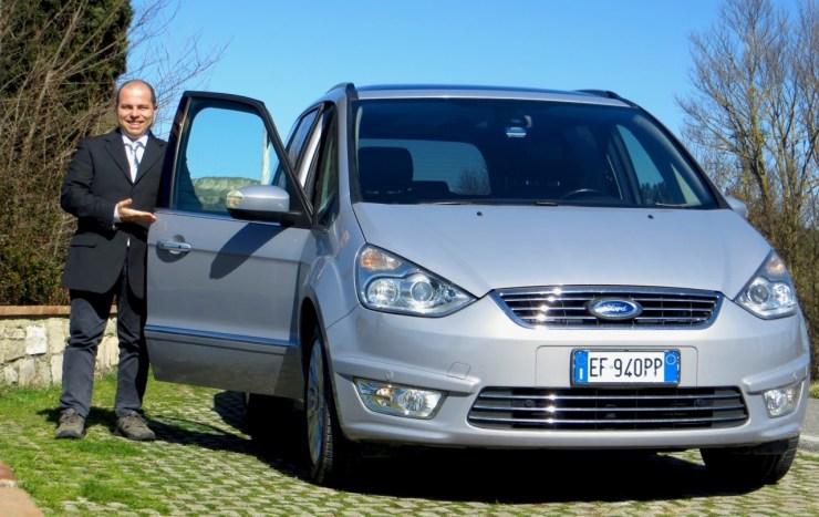 Massi with his van.