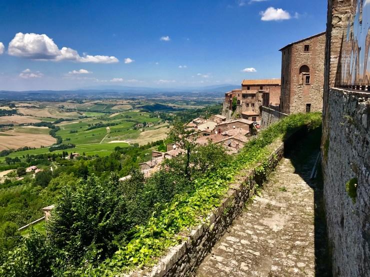 Montepulciano, Italy view