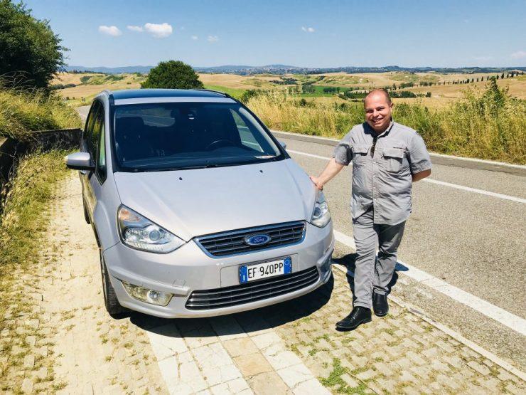 Massi the driver and van