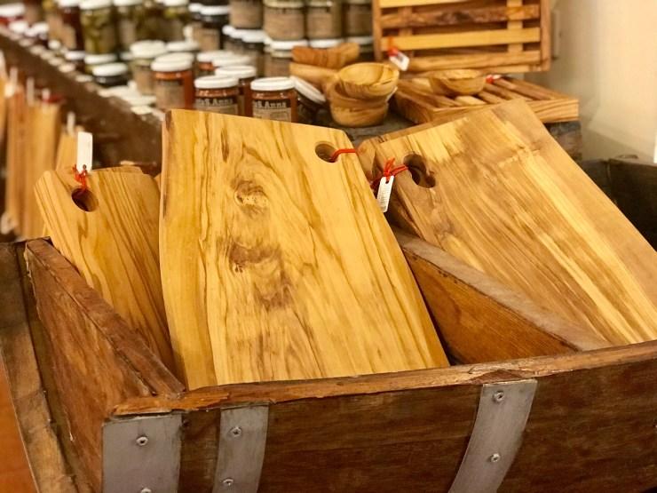 Olive wood serving board