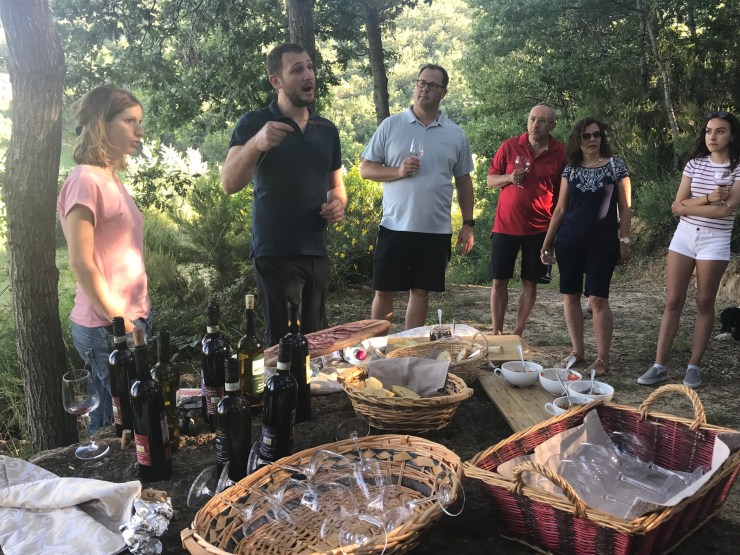 Wine tasting at Villa Ambra