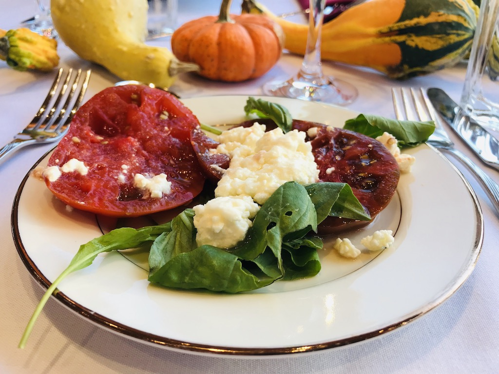 Grinnell Iowa Relish restaurant caprese at the Harvest Dinner