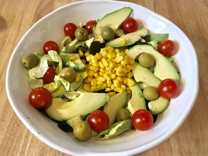 Our salad was made special with manzanilla green olives - a product of Spain.